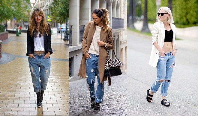 Как носить оригинальные джинсы – бойфренда.