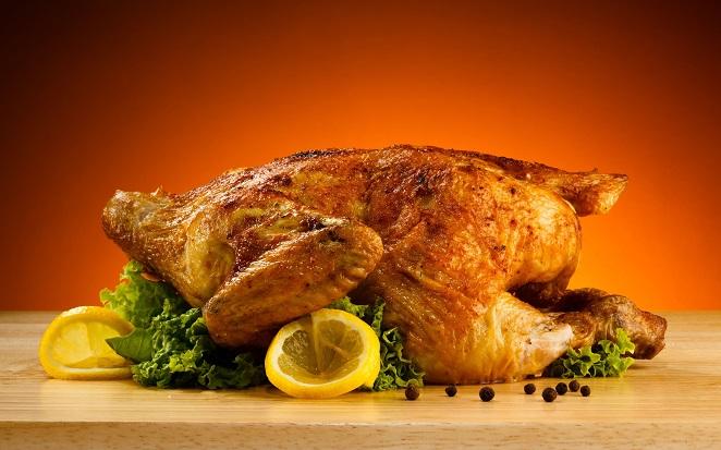 Запеченная курица с лимонным соком