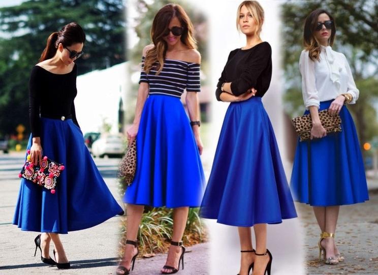Как носить юбку-миди юной девушке?