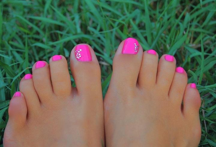 Фото ногти ног