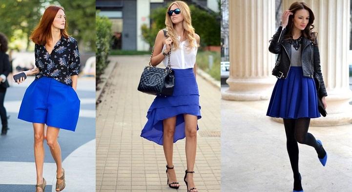 Что надеть с голубой юбкой?