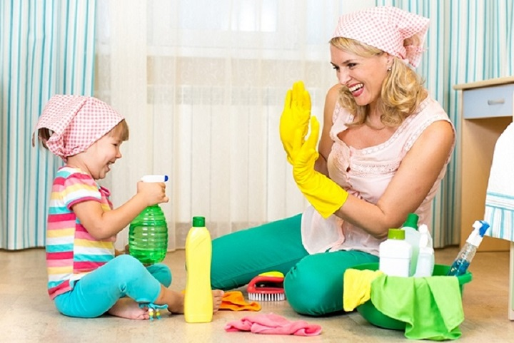 Учим ребенка помогать по дому