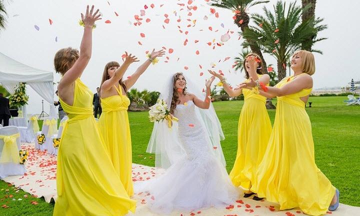 Свадьба в желтом цвете фото