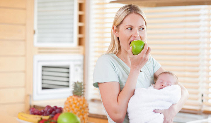 Правильное питание кормящей матери