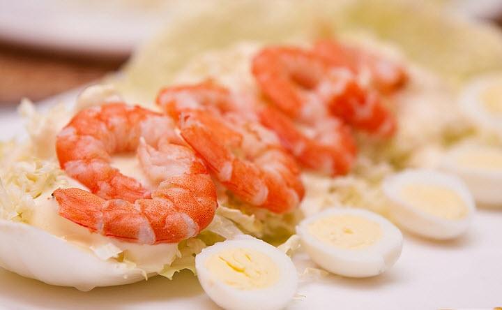 Креветочный салат «Тет-а-тет»