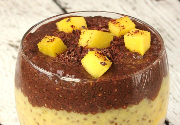 Романтический ужин: изысканный десерт из манго и шоколада