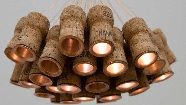 декоративное освещение из дерева