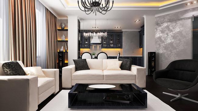 гостинная в стиле модерн