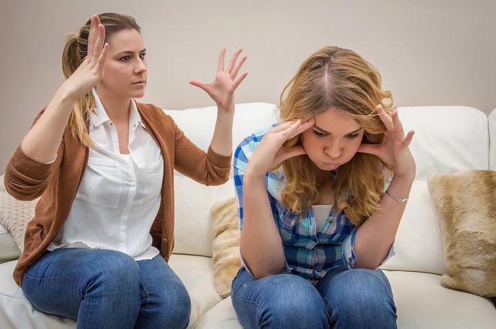 Конфликты между родителями и подростками