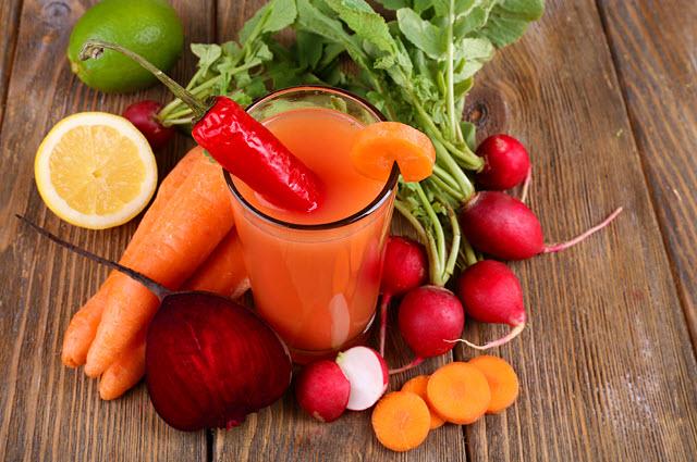 вкусный овощной напиток