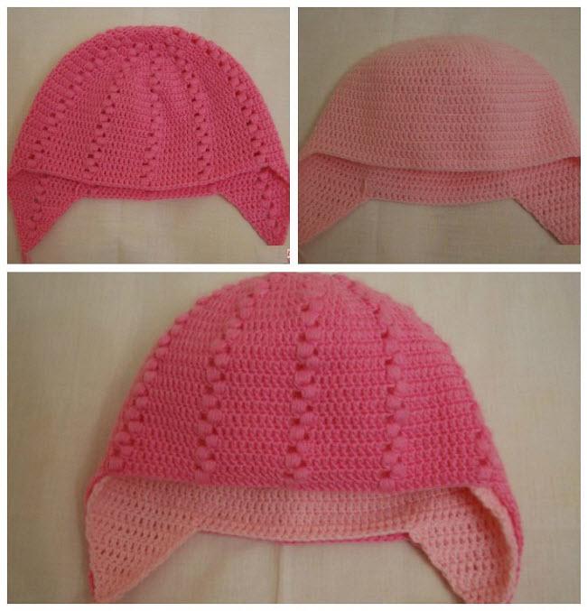 вяжем зимнюю шапочку для девочки схема 2