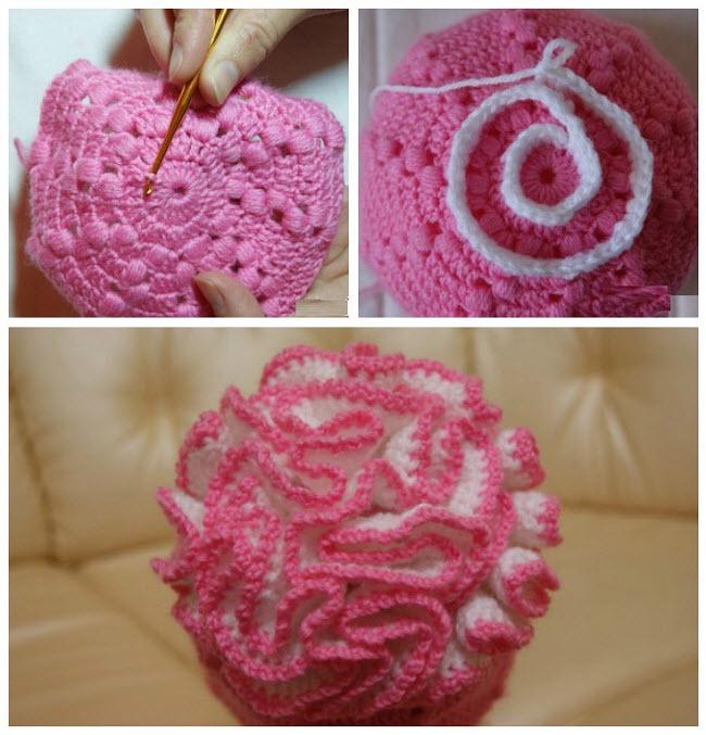 как сделать цветочек для шапочки