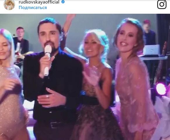 Билан зажигает на свадьбе Рудковской и Плющенко