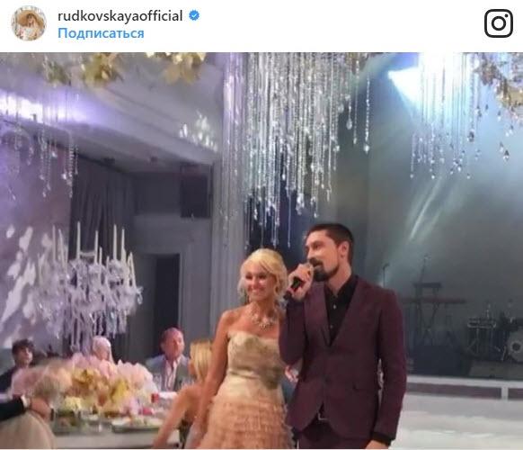 Билан на свадьбе Рудковской и Плющенко