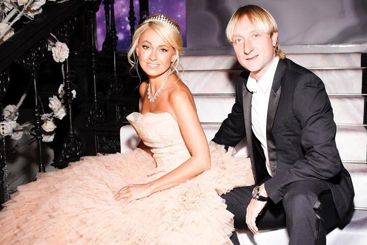 Звезды зажгли на свадьбе Яны Рудковской и Евгения Плющенко