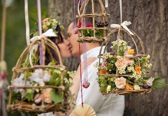 жених и невеста свадьба в эко стиле