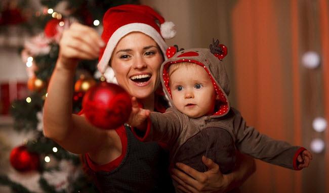 мама и ребенок новый год