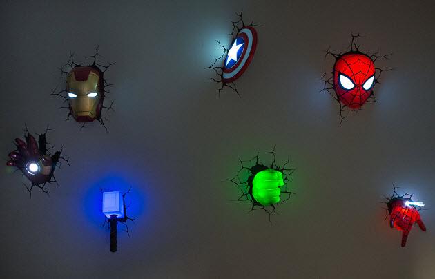 3Д светильники в стену