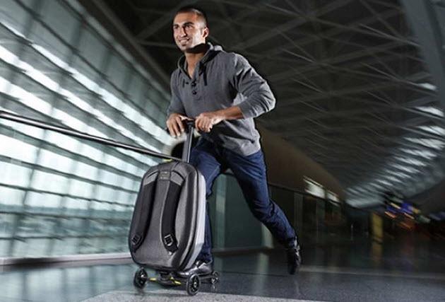 чемодан самокат