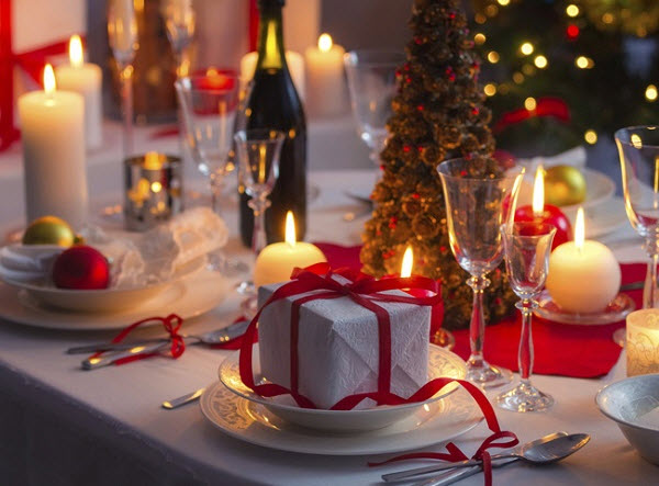 романтический новогодний ужин