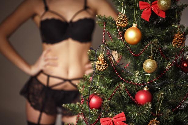 одеть сексуальное белье на Новый год