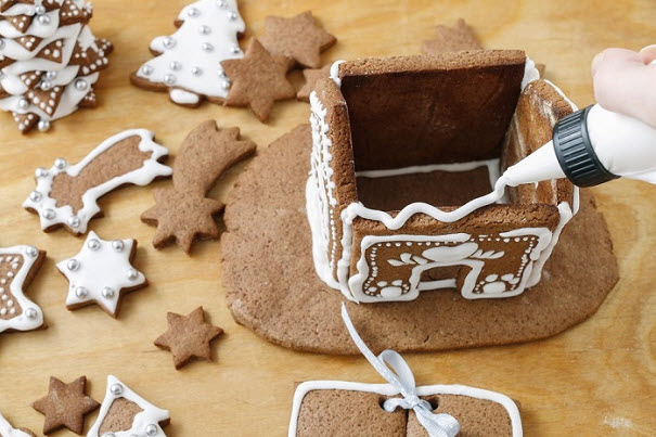 вкусный домик на рождество
