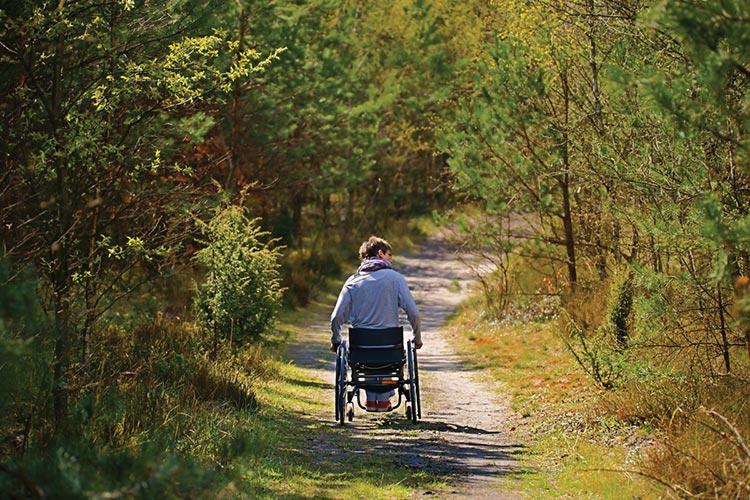 парень в инвалидной коляске