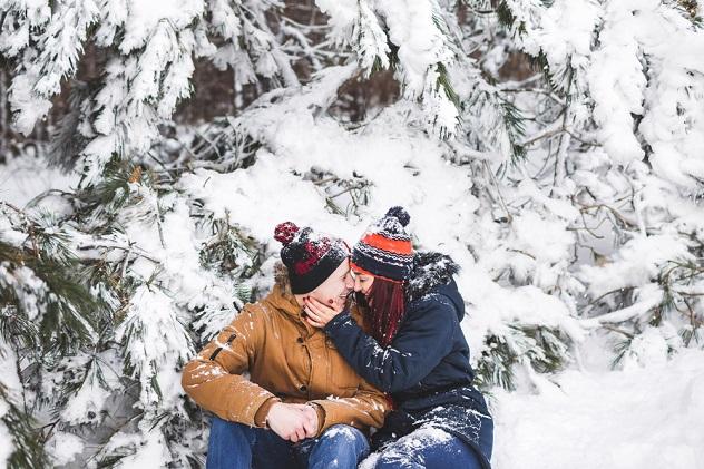 гуляем с любимым зимой