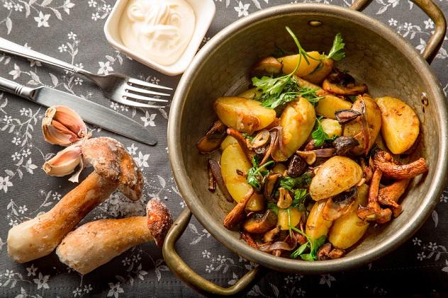 рецепты приготовления белых грибов на сковородке