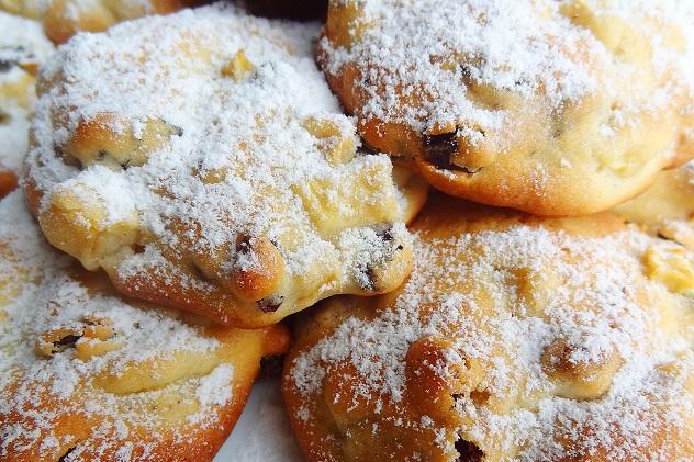 яблочное печенье с ирисками