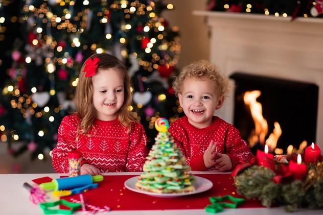 дети выпечка Новый год