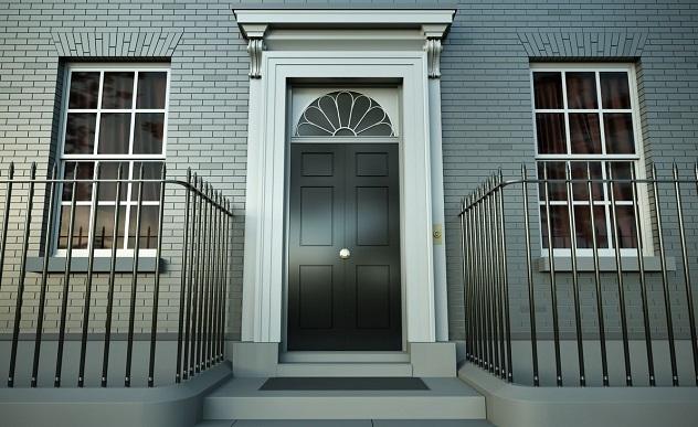 Даунинг стрит железная дверь Лондон
